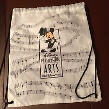 "Disney Mickey Mouse Performing Arts Walt Disney World White Cinch Pack 21"" x 13"""