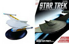 #57 Star Trek Romulan Bird Prey Die Cast Metal Ship-UK/Eaglemoss w Mag-FREE S&H