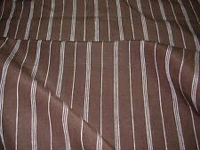 """~2 4/8 YDS~RALPH LAUREN~""""MEAD LINEN STRIPE""""CHOCOLATE~UPHOLSTERY FABRIC FOR LESS~"""