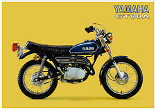 YAMAHA Poster GT80 GT80A 1974 Trail Superb Suitable to Frame