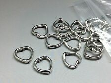 20 x tibetan bead frames, Heart, Antique Silver, 13mm for jewellery making