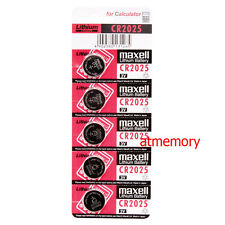 Maxell CR2025 CR 2025 3V Coin Cell Battery x 5pcs Made in Japan Genuine