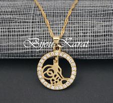 Tugra Kette Gold Münze inkl Halskette Türkisches Gold 24 Karat GP Altin Kaplama