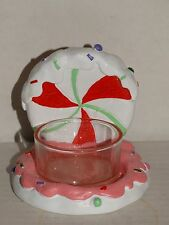 Yankee Candle Sugar Plum Village Peppermint Candy Tea Light holder New with tags