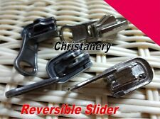 10X Reversible Slider|Pull #5 Molded Metal Zipper Puller Black Nickel