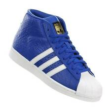 ADIDAS SUPERSTAR UK 9.5 BNIB PRO MODEL ANIMAL TRAINERS BOOTS RETRO BLUE VINTAGE
