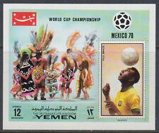 Yemen Kgr 1970 ** Bl.220 Fußball Football Weltmeisterschaft World Cup Mexico