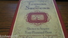 Lessons for Success: Quotes to Inspire Darconte HC DJ Free Ship