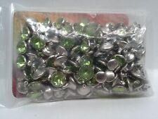 Tandy Leather 1395-14 Synthetic Crystal Rivets Lt Green 10mm 100 Pack F/Ship!