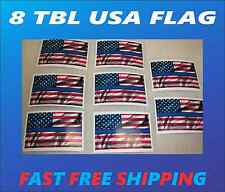 8 THIN BLUE LINE USA FLAG Sticker Decals 4 POLICE boat car Window Truck suv