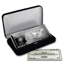 4 oz Silver Bar - Random Year $100 Bill (W/Box & COA) - SKU #96551
