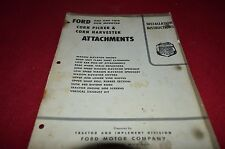 Ford Tractor Corn Picker Attachments Installation Manual YABE11