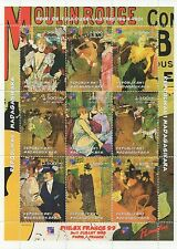MOULIN ROUGE FRENCH CABARET CAN CAN DANCE MADAGASIKARA 1999 MNH STAMP SHEETLET