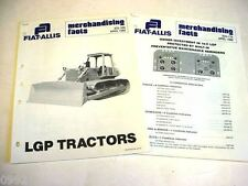 Fiat-Allis 14-C Crawler Dozer Comparisons Asst from Dealer Sales Manual 18 Pages
