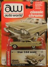 Auto World Premium Release 5 Classic Chrome 1958 Plymouth Fury Tan