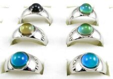Lot 10pcs Round Beads Color Changable Mood Rings Fashion Jewelry