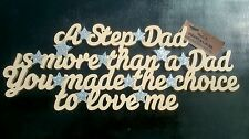 Step dad fathers day gift present birthday Christmas natural wood