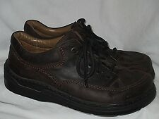 Dark Brown Nubuck Leather FOOTPRINTS Moccasins Lace Comfort Oxfords 42/9 N