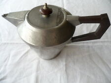 Antique Art Deco vintage English Pewter teapot bakelite handle tea coffee pot