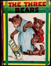 THE THREE BEARS, LITTLE BLACK SAMBO + Antique Saafield Children's Book
