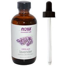 Lavender Oil (100% Pure), 4 oz Plus Glass Dropper - NOW Foods Essential Oils
