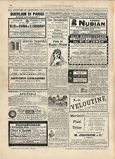 Stampa antica pubblicità GUERLAIN di PARIGI ecc. 1887 Old antique print