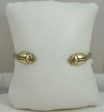 Lucky Brand Gold-Tone w/ Distressing Mini Scarab at Ends Cuff Bracelet $35