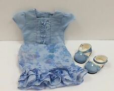 RARE American Girl doll HOLIDAY Fancy Flower  Outfit bracelet shoes RETIRED Lot