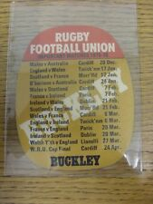 1975/1976 Rugby Union: Buckley Beer Mat - 'Make It A B-Line For A BUCKLEY'S', On