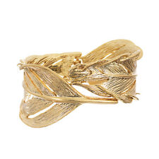 Chloe and Isabel Sculpted Feather Hinged Cuff Bracelet NWT