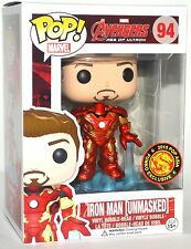 Funko Pop Marvel Avengers AOU Iron Man Unmasked Bobble Head #94 Asia Exclusive