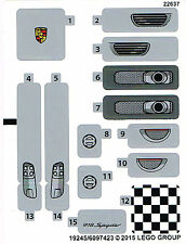 LEGO 75910 Sticker Sheet for Porsche 918 Spyder - Speed Champions NEW Car Decals