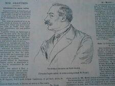 Le Général Gilletta de Saint Joseph espion Italien Image Print 1900
