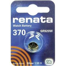 370 (SR920W) Coin Battery Pack Renata 1.55V / for Watches Car Keys Torches