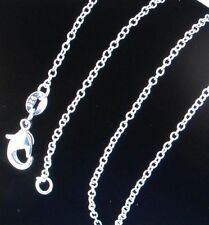 "925 STERLING SLIVER "" ROLO "" CHAIN NECKLACE!!! 18  INCH X .75MM FINE!!"
