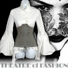 ALL SAINTS CORSET VINTAGE TOP BUSTIER VICTORIAN 18c COURTESAN POET CASANOVA VAMP