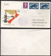 1953 Netherlands Cover - KLM Airlines, Handicap Air Race, London to New Zealand