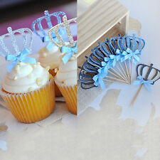 1x Crown Cakes Topper Sparkle Glitter Wedding Decorating Engagement Party Lovely