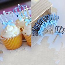 1 Pcs Crown Cake Topper Sparkle Glitter Wedding Decorating Engagement Party SE
