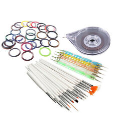 Nail Art Stickers Roller Box+20pcs Dotting Pen+10pcs DIY Striping Tape Line Tool