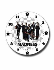 MADNESS  250MM DIAMETER ROUND METAL CLOCK, MUSIC,OUR HOUSE, IT MUST BE LOVE