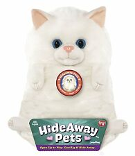 "Jay At Play 15"" Hideaway Pets Plush Stuffed Animal (Snow White Kitten Cat) NEW"
