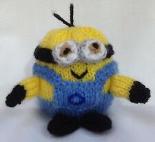 KNITTING PATTERN - Minion chocolate orange cover or 7 cms toy