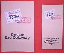 Alfa Romeo Special Delivery Program, Original 1985 Factory Brochure