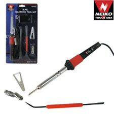 New Professional 5pc Soldering Iron Tool Kit Set Solder Sodering Gun $0 SHIPPING