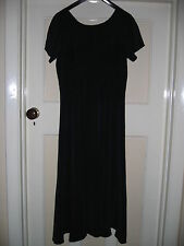 LAURA ASHLEY 100% SILK NAVY BLUE DRESS. FULLY LINED SIZE10 EXCELLENT CONDITION