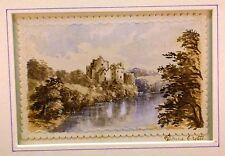 SCOTTISH LOCHS  DONNE (DOUNE) CASTLE RIVER TEITH  ELIZABETH DENNISTOUN W/COL1876