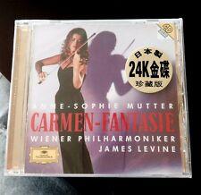 ANNE SOPHIE MUTTER, CARMEN-FANTASIE,  JAMES LEVINE 24 K GOLD CD, JAPAN