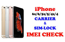 Fast iPhone 6s 6 5s 5 4s 4 IMEI check Country Network & Carrier & SimLock Status