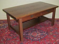 RARE MISSION OAK LIBRARY TABLE BY HARDEN-MODEL # 528-EXCEPTIONALLY NICE!